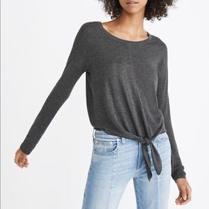 Madewell Modern Tie-Front Sweater